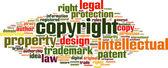 Copyright word cloud — Stock Vector