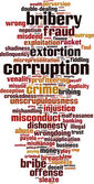 Corruption word cloud — Stock Vector