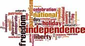 Independence word cloud — Stock Vector