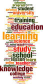 Education word cloud — Stockvector