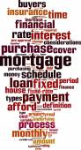 Mortgage word cloud — Stock Vector