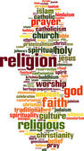 Religion word cloud — Stock Vector