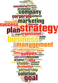 Strategy word cloud — Stock Vector
