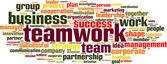 Nube parola teamwork — Vettoriale Stock