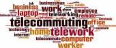 Telework word cloud — Stock Vector