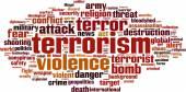 Terrorism word cloud — Stock Vector