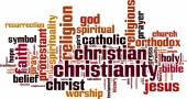Christianity word cloud — Stock Vector