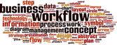 Workflow word cloud — Stock Vector