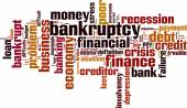 Bankruptcy word cloud — Stock Vector
