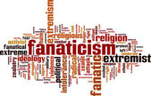 Fanaticism word cloud — Stock Vector