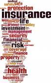 Insurance word cloud — Stock Vector