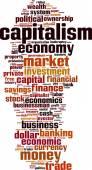 Capitalism word cloud — Stock Vector