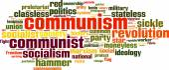 Communism word cloud — Stock Vector