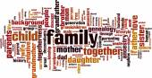Family word cloud — Stock Vector