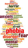 Phobia word cloud — Stock Vector