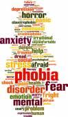 Phobia word cloud — Stock Vector