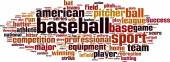 Baseball word cloud — Stock Vector
