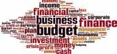Budget word cloud — Stock Vector