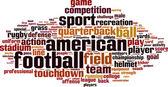 American football word cloud — Stock Vector