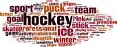 Hockey word cloud — Stock Vector