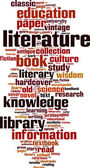 Literature word cloud — Wektor stockowy