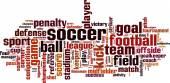 Soccer word cloud — Stock Vector