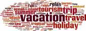 Vacation word cloud — Stock Vector