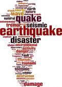 Earthquake word cloud — Vector de stock