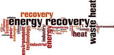 Energy recovery word cloud — Stock Vector