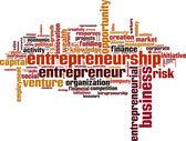 Entrepreneurship word cloud — Stock Vector