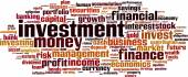 Investment word cloud — Stock Vector