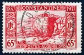 Postage stamp Algeria 1937 Constantine in 1837 — Stock Photo
