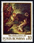 Postage stamp Romania 1970 The Hunt, by Domenico Brandi — Stock Photo