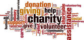 Charity word cloud — Vetor de Stock