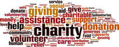 Charity word cloud — Stock Vector