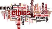 Ethics word cloud — Stock Vector