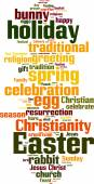 Easter word cloud — Stock Vector