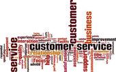 Nuage de mot pour le service client — Vecteur