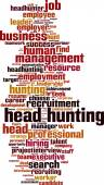 Head hunting word cloud — Stock Vector