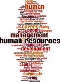Human Resources word cloud — Stock Vector