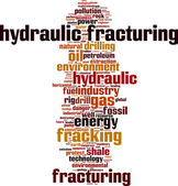 Hydraulic Fracturing word cloud — Vetorial Stock