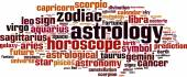 Astrology word cloud — Vetorial Stock