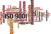 ISO 9001 word cloud — ストックベクタ