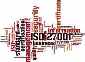 Iso 27001 word cloud — Stockvector