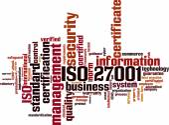 Nube de word de Iso 27001 — Vector de stock