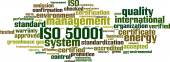 ISO 50001 word cloud — Stock Vector
