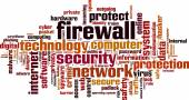 Firewall word cloud — Stock Vector