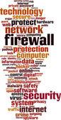Firewall word cloud — Stock Vector
