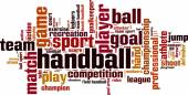 Handball word cloud — Stock Vector