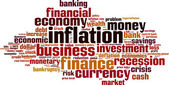 Inflation word cloud — Stock Vector
